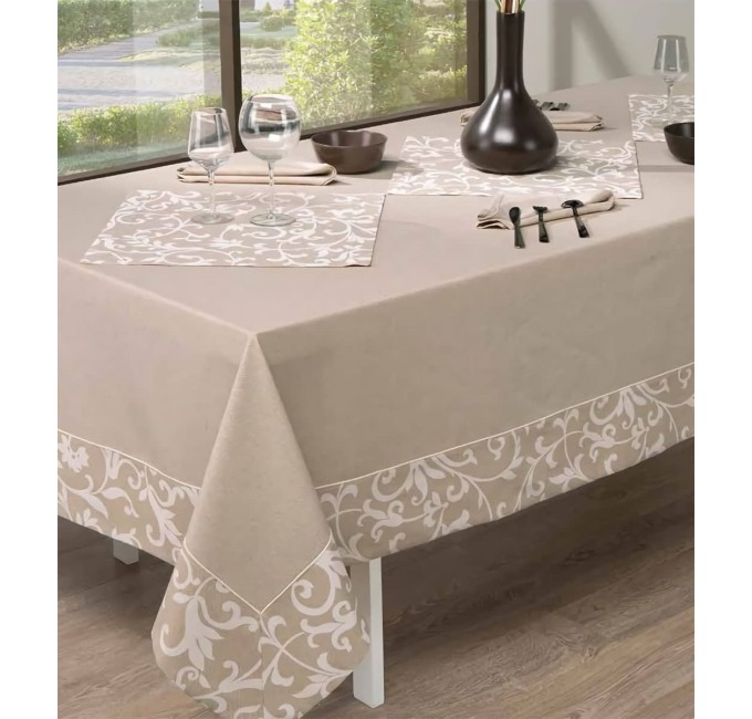 Latoya - tablecoth with napkins x12
