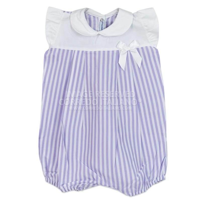 Pagliaccetto neonata in cotone batista art. 515T60