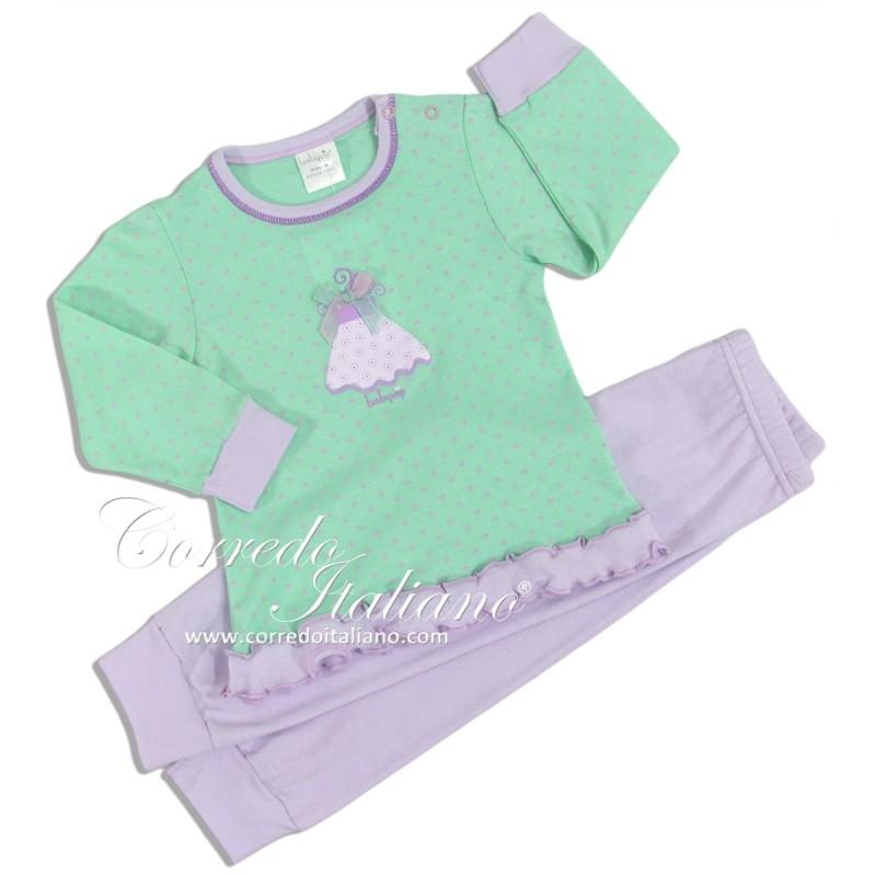 BABY GIRL INTERLOCK PAJAMA BABY VIP ART. J3371
