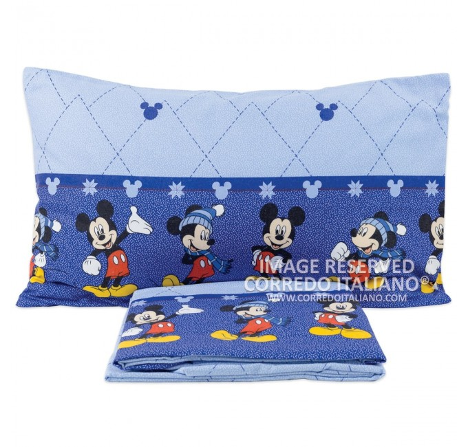 Mickey Mouse - bed sheet single flannel