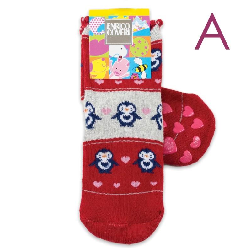 Baby socks in winter cotton art. Elephant