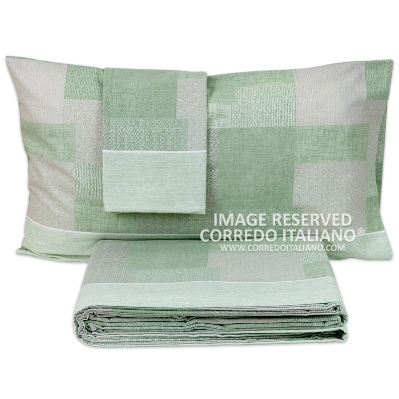 Patchwork - set lenzuola in flanella Corredo Italiano letto matrimoniale
