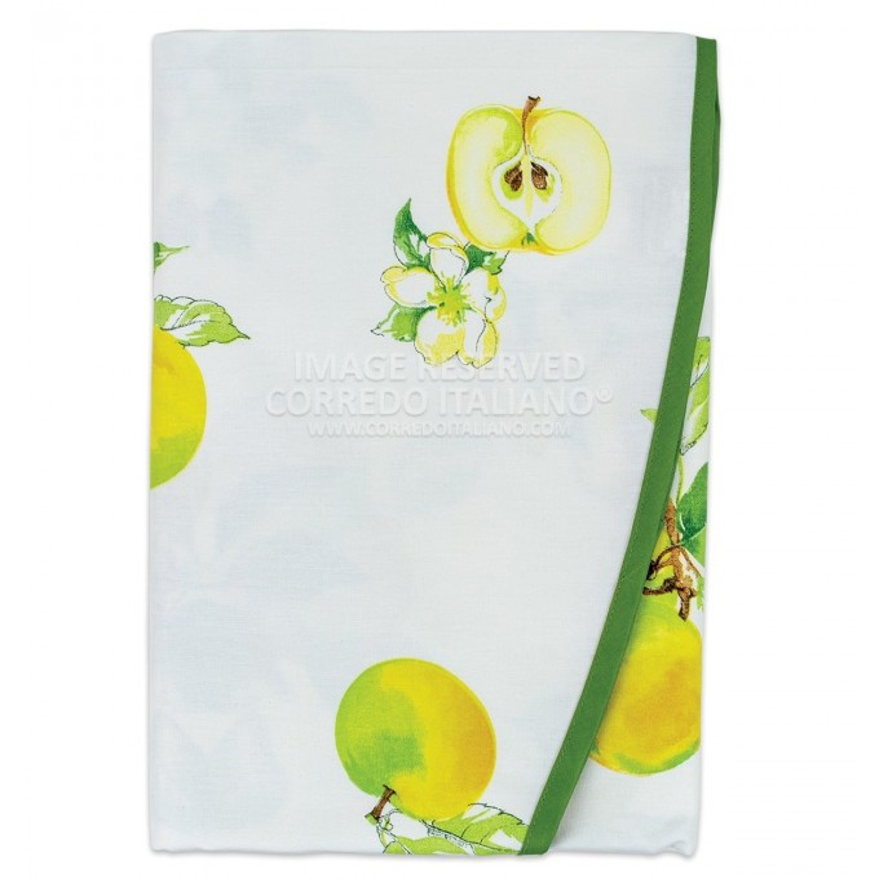 Cherry - round cotton tablecloth x8