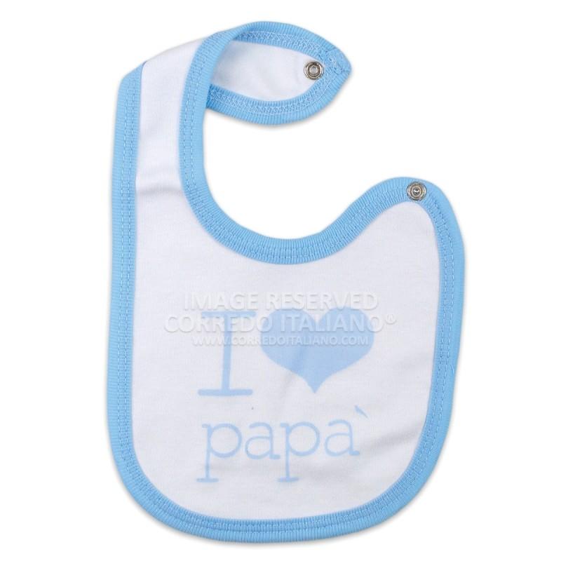 Bavetta I Love papà con chiusura clip art. TB281/2
