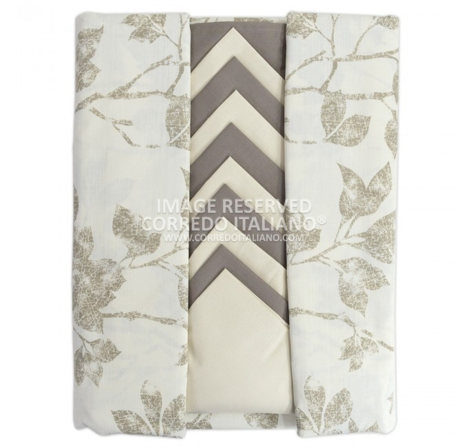 Leaves - tablecoth with napkins x12