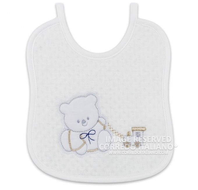 Bib in pure cotton art. CI1341BG