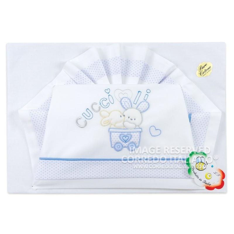 Cot bed sheet set La Fatina art. 04137BG