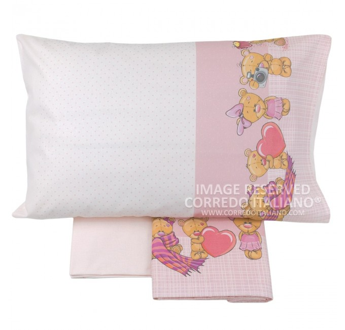 Cot bed sheet set art. 016R