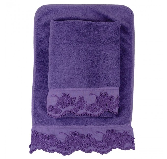 Set towels + guest towel in 100% pure linen fabric and cotton